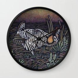 Prairie Chickens Wall Clock