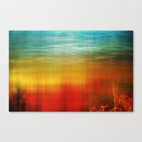flight Canvas Prints featuring Flight by SensualPatterns