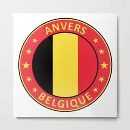 Anvers, Belgique Metal Print