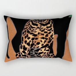 Vintage Munich Zoo Leopard 1912 Advertisement Rectangular Pillow
