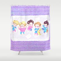 shinee Shower Curtains featuring SHINee Sleepover by sophillustration
