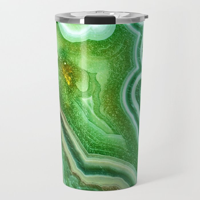 Green Onyx Marble Travel Mug