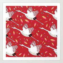 Party Cranes Art Print
