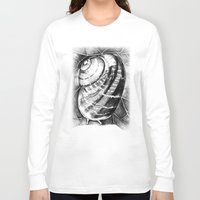 snail Long Sleeve T-shirts featuring Snail by MARIA BOZINA - PRINT