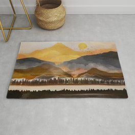 Pure Wilderness at Dusk Rug