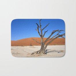 Skeleton tree in Namibia Bath Mat