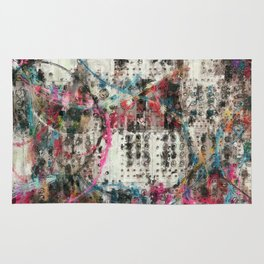 Analog Synthesizer, Abstract painting / illustration Rug