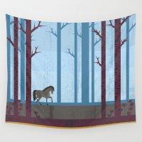 woods Wall Tapestries featuring Woods by Kakel
