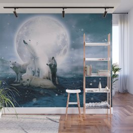 Wolves and the polar bear by GEN Z Wall Mural
