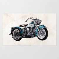 old school Area & Throw Rugs featuring Old School by Art Edel