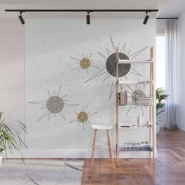 Atomic Stars Neutral Wall Mural