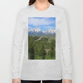 Snake River And The Grand Tetons Long Sleeve T-shirt