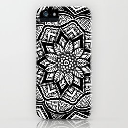 Nature and Pointillism Mandala iPhone Case