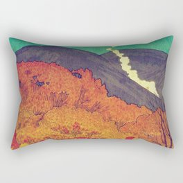 Autumn Baths in Kaanaii Rectangular Pillow