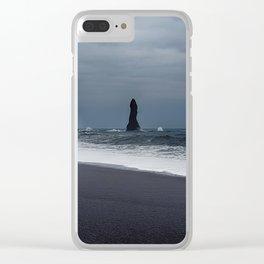 Pinnacles at Black Sand Beach Clear iPhone Case