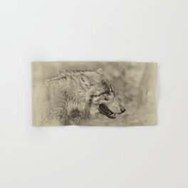 lonesome wolf Hand & Bath Towel
