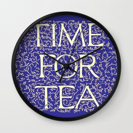 Time For Tea (Royal Blue) Wall Clock