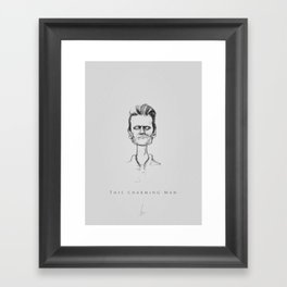 This charming man Framed Art Print
