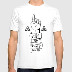 One/On The Way SMALL Mens Fitted Tee White