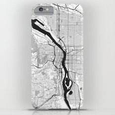 Portland Map Gray iPhone 6s Plus Slim Case