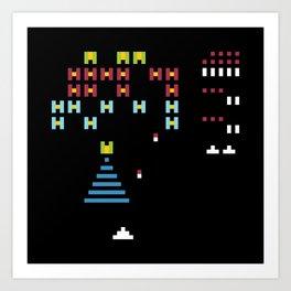 Minimal NES: Galaga Art Print