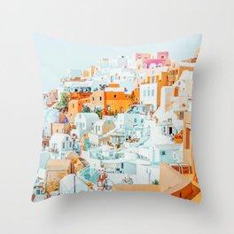 Santorini Vacay #photography #greece #travel Throw Pillow