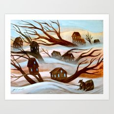 Desert Flood Art Print