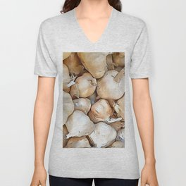 Garlic bulbs Unisex V-Neck