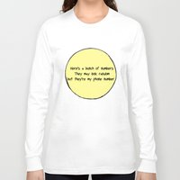 numbers Long Sleeve T-shirts featuring Numbers by Alexia Rose