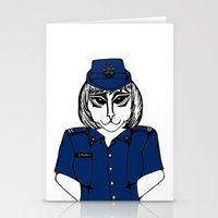 police Stationery Cards featuring Police Kitty by Sofy Rahman