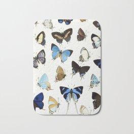 Vintage Butterfly Illustration Bath Mat