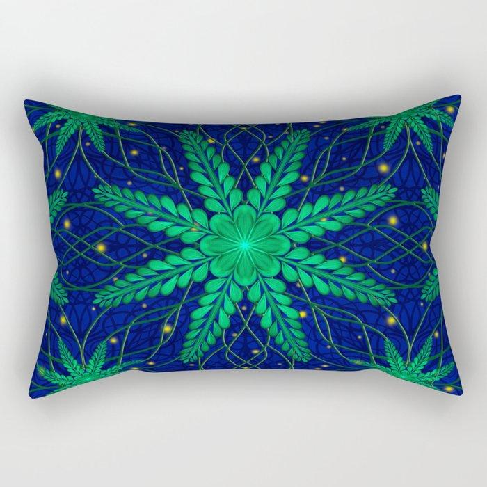 Web of Leaves and Light Rectangular Pillow