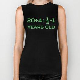 35 Years Old Math Equation Funny 35th Birthday Biker Tank