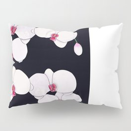 Trois Orchids and a Bud Pillow Sham