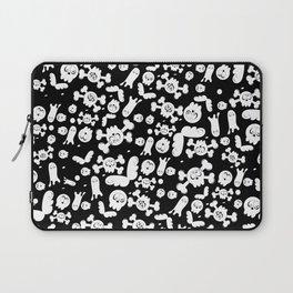 Skulls and ghosts pattern in black Laptop Sleeve