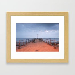 The Pier At Swanage  Framed Art Print