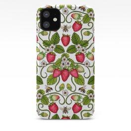 Strawberries & Honey Bees - Spring/Summer Pattern iPhone Case
