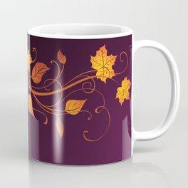 Maroon Autumn Leaves Coffee Mug