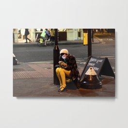 Lady in Yellow - Brick Lane, London Metal Print