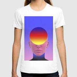 Gradient face T-shirt