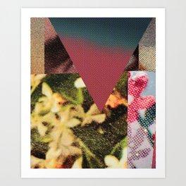 Halftone Collage Art Print