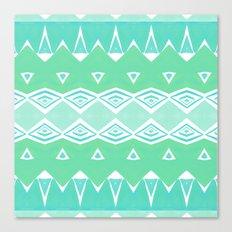 Geo Triangle Sea Green 2 Canvas Print