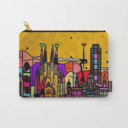 Barcelona Popart by Nico Bielow Carry-All Pouch