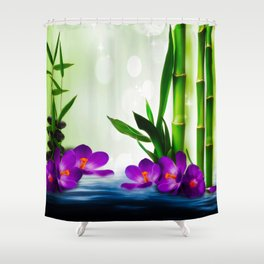 Bamboo 3 Shower Curtain