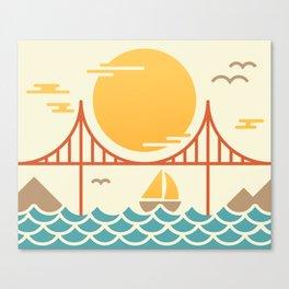 San Francisco Golden Gate Bridge Illustration Canvas Print
