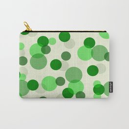Green Spots Carry-All Pouch