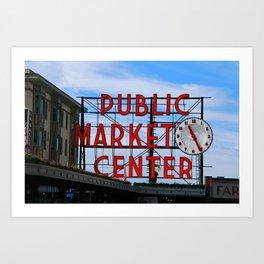 Pike Place Market Art Print