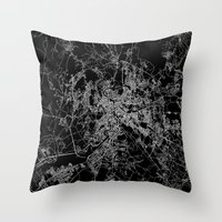 rome Throw Pillows featuring Rome by Line Line Lines