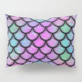 Rainbow Mermaid Scales Pillow Sham