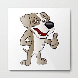 Bad Dog cartoon.  Metal Print